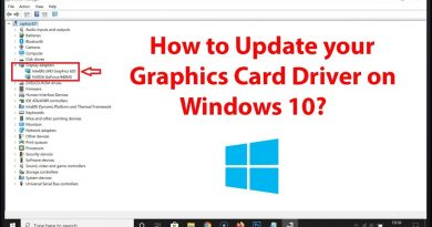 Update Your Graphics Drivers in Windows 10